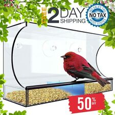 """Window Bird Feeder size Xl 5"""" Suction Cups Outdoor Hanging Weather Resistant"""