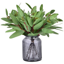 8PCS Artificial Eucalyptus Long Oval Leaf Stem Eucalyptus Spray Greenery Leaves