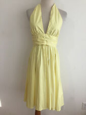 French Connection 'Lemoncello' Halter Dress Fit & Flared Size 4 NWT MSRP $188