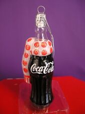 COKE COCA - COLA GLASS XMAS ORNAMENT BY KURT ADLER NEW IN ORIGINAL PACKAGE