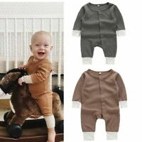 Newborn Kid Baby Boy Girl Clothes Jumpsuit Romper Bodysuit Playsuit Outfits