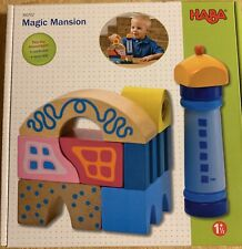 HABA Magic Mansion - 10 Piece Wooden Building Block Set with Whimsical Designs