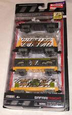 Power City Trains Jakks Pacific Safari Freight Car Set MOC!