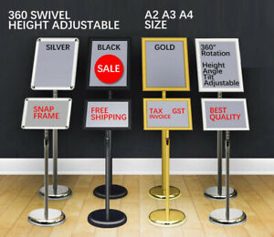 NEW A2 A3 A4 Floor Poster Stand Foyer Pedestal Sign Holder Business Menu Display