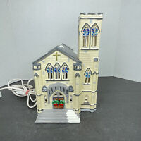 Vintage 1987 Department 56 Christmas Village Cathedral Church