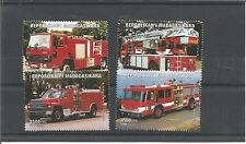 MADAGASCAR 1999 FIRE ENGINES SET OF FOUR STAMPS MNH
