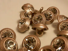 Boutons. Buttons .10st. Hobby. COUDRE. Gray. Métal Boutons. Strass. Argent. Gris.