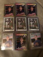 9 John Smoltz RC 1989 3-Upper Deck  2-Fleer  4-Donruss Rookie