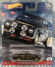 Hot Wheels '70 Ford Escort RS1600 Black Door Slammers Car Culture 2020
