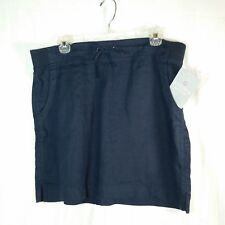 Athleta Womens Size 14 Skirt Navy Drawstring Fitness Apparel