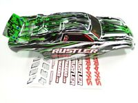 NEW TRAXXAS RUSTLER Body Painted GREEN PRO-GRAPHIX Edition VXL RUE4G