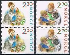 Noorwegen postfris 1987 MNH 984-985 - Kerstmis / Christmas