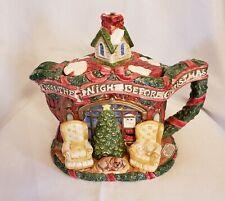 New ListingFitz & Floyd 'Twas The Night Before Christmas Teapot Vintage 1993