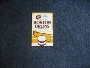 1977-78 BOSTON BRUINS HOCKEY  SCHEDULE SPONSORED BY SCHLITZ