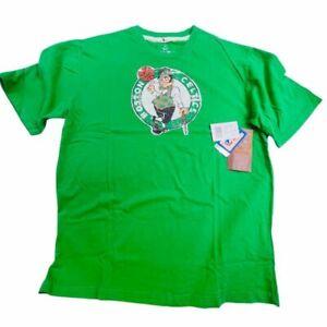 Green Short Sleeve Boston Celtics Majestic T-Shirt NWT 100% Cotton Men's XL