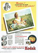 PUBLICITE ADVERTISING 056  1959  Kodak  le film Kodachrome  diapositive