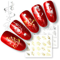 Nail Water Decals Transfers Stickers Christmas Xmas Santa Snowflakes Selection