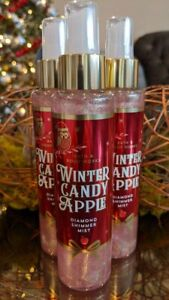 3 Bath & Body Works WINTER CANDY APPLE Diamond Shimmer Mist Spray