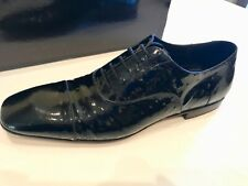 Cesare Paciotti Mens shoes size 7US/40Eu Black leather Made in Italy