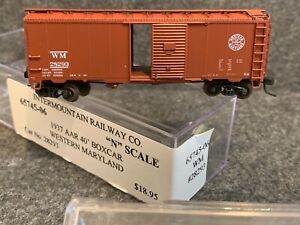 N Scale-Intermountain Western Maryland 1937 AAR 40' Boxcars 65745-06 28293