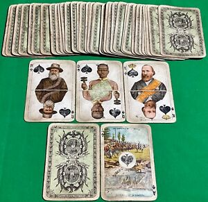 Old c1900 Antique WUST Non Standard ** TRANSVAAL BOER WAR ** Wide Playing Cards