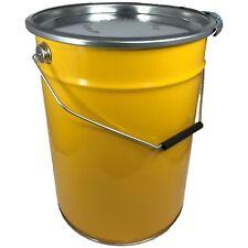 20 Liter Hobbock / Deckelfass Stahlfass Fass Mülleimer Eimer NEU Gelb