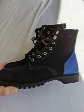 Womens 7 M Six Degrees of Sebago Black Blue Suede Leather Lace-Up Ankle Boots