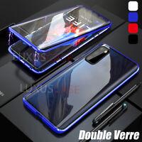 Samsung Galaxy S20 FE | 5G Métal Magnétique Deux Verre Trempé Coque Étui Housse