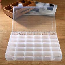 36 Grid Compartments Plastic Jewellery Bead Organizer Box Storage Container Case