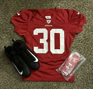 2019 #30 49ers Game Issue Jersey/Cleats/Gloves 49ers Foundation COA