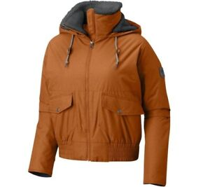 Columbia Women's Beacon Brooke™ Bomber Jacket Bright Copper Size XL NEW with tag