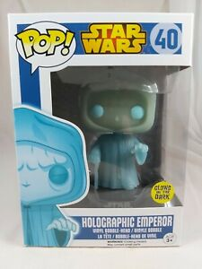 Star Wars Funko Pop - Holographic Emperor (Glow) - Blue Box - No. 40
