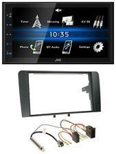 JVC 2DIN Bluetooth MP3 AUX USB Autoradio für Audi A3 8P 2003-2006 ISO