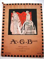 "Stunning Art Deco July 1923 Parisian Fashion Magazine Titled ""Art Cout Beaute"" *"