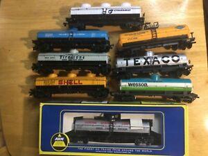 Lot of 8 HO Scale Tyco AHM Bachmann Single & Triple Domed Tanker Cars No Reserve