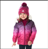 NEW! Snozu Girl's Hypoallergenic Puffy Down Jacket with Beanie VARIETY!