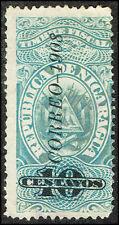 Scott # 218 - 1908 -  ' Revenue Stamp ', Ovpt CORREO 1908