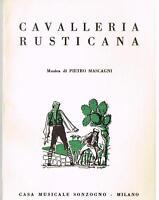 Mascagni: Cavalleria Rusticana - Libretto Ricordi
