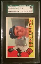 1960 TOPPS JOHNNY KLIPPSTEIN DODGERS #191--SGC 86=7.5=NEAR MINT-PLUS--CENTERED!