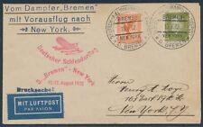 Katapultflug Dampfer Bremen 11.8.1932 Seepost nach New York (S18530)