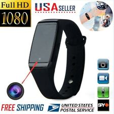 1080P HD SPY Cam DVR Hidden Camera Wearable Wrist Watch Bracelet Video Recorder