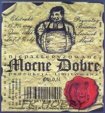 Poland Brewery Lwówek Śląski Mocne Dobre Beer Label Limited Edition ls134.4