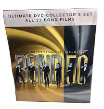 JAMES BOND 007 ULTIMATE COLLECTOR'S 22 FILMS BOX SET NEW /SEALED