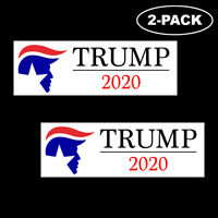TRUMP 2020 Bumper Sticker Decal Political Republican Vinyl USA MAGA Logo 2-Pack