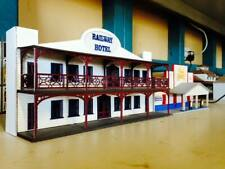 HO scale Railway Hotel, KIT Backdrop building Timber Laser cut