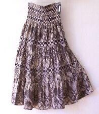 NEW~LAPIS~Black & Sand Beige Tiered Peasant Boho Dress-Skirt~16/18/14/XL