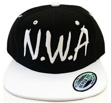 N.W.A Vintage Snapback NWA Cap Hat WHITE/BLACK Niggaz Wit Attitudes