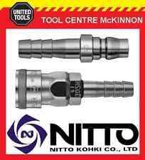 """GENUINE NITTO 3/8"""" AIR HOSE COUPLER FITTING SET (30SH & 30PH) – MADE IN JAPAN"""
