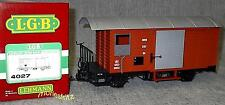 LGB 4027 Closed Goods Wagon Mob with Stahlblechtüren for Opening