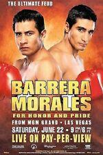 ORIGINAL PAY-PER-VIEW POSTER Erik Morales vs. Marco Antonio Barrera 2 6-22-02